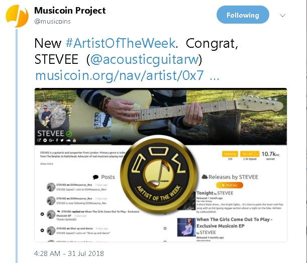 Musicoin Artist of the Week - STEVEE